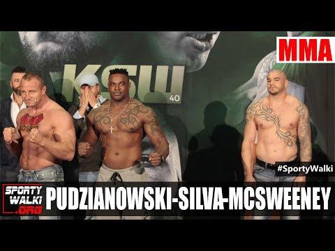 KSW 40. Mariusz Pudzianowski na oficjalnym ważeniu przed galą w dublinie