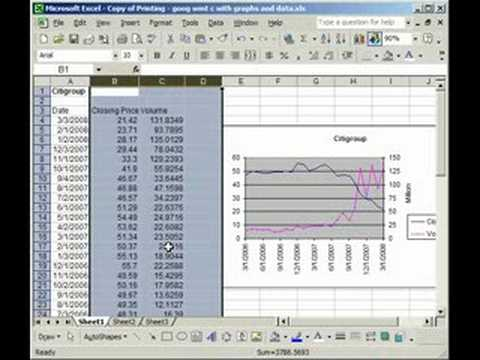 How to Graph/Chart Hidden Data in Excel