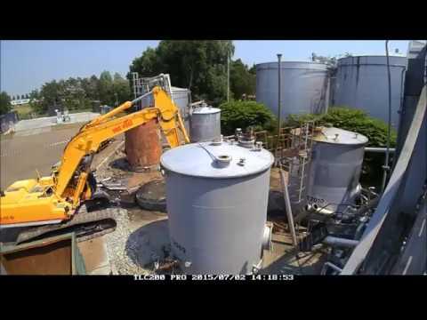 Demolition tank farm