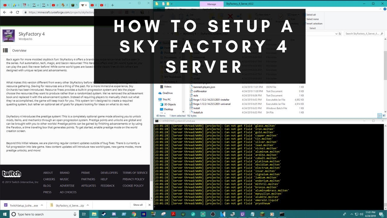 How to Install a Sky Factory 4 Server (Minecraft Forge 1 12 2)