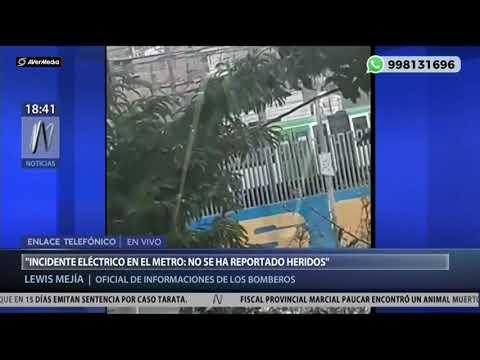 Metro de Lima: así fue la explosión en el tren eléctrico [Canal N]