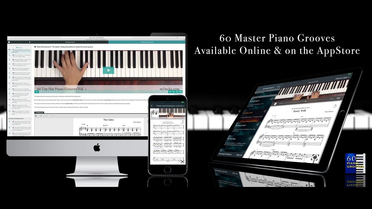 60 Master Piano Grooves  Learn how to Groove at the Piano