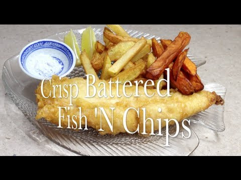 Crisp Battered Fish Fillets And Potato Chips And Kumera Fries Video Recipe CHEEKYRICHO