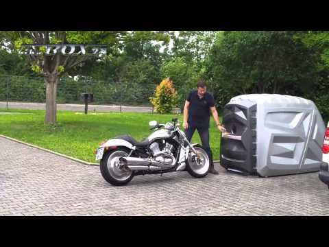 mini garage exterior para moto doovi. Black Bedroom Furniture Sets. Home Design Ideas