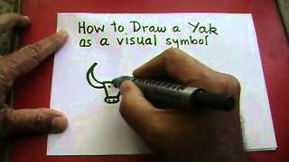 How to draw a yak as a visual symbol