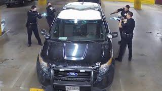 경찰 본부에서 발생한 무장 용의자와의 총격전