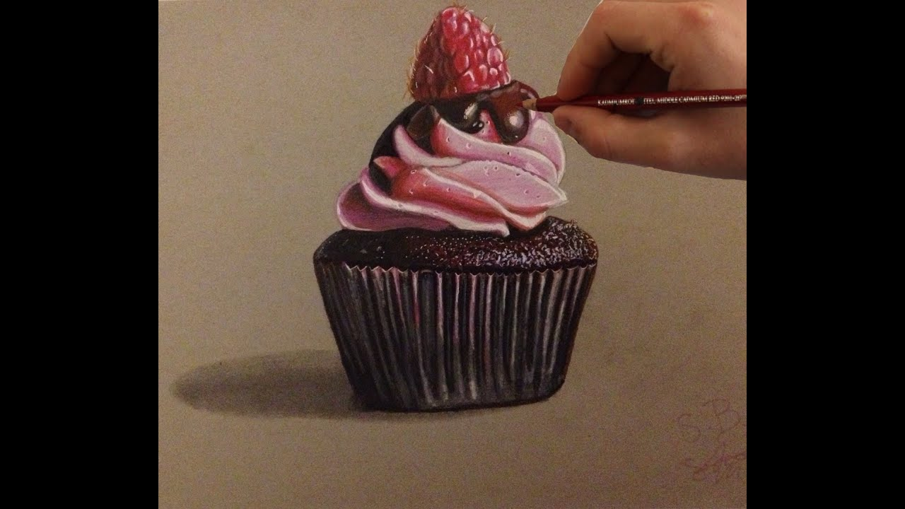 Cupcake Timelapse Drawing