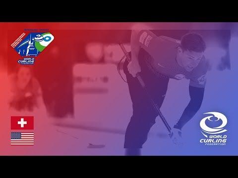 Switzerland v United States - Round-robin - World Mixed Doubles Curling Championship 2018