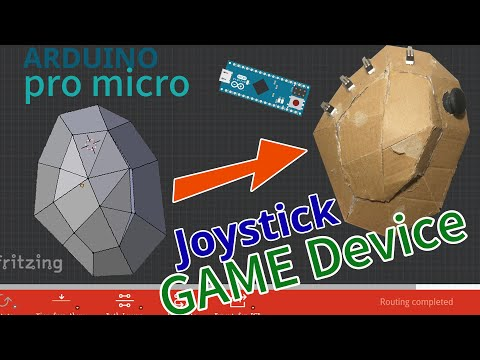 use blender 3d model to material object arduino pro micro diy game device key joystick modular