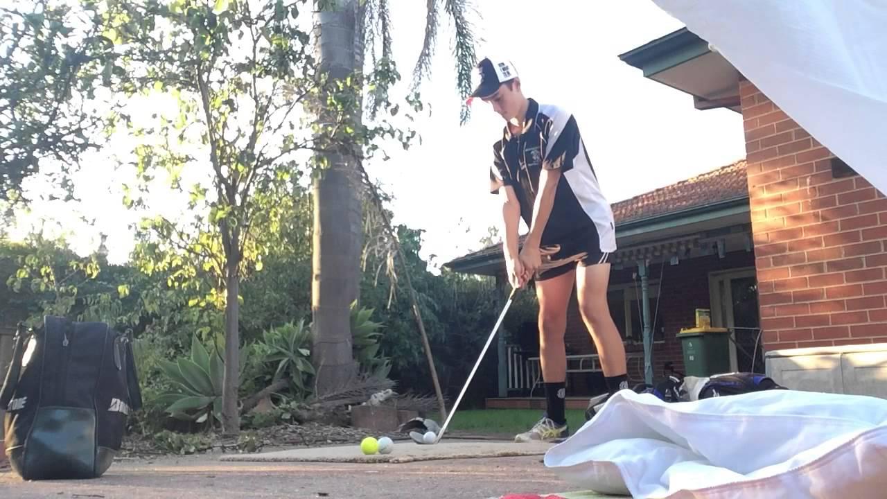 backyard golf net gone wrong youtube