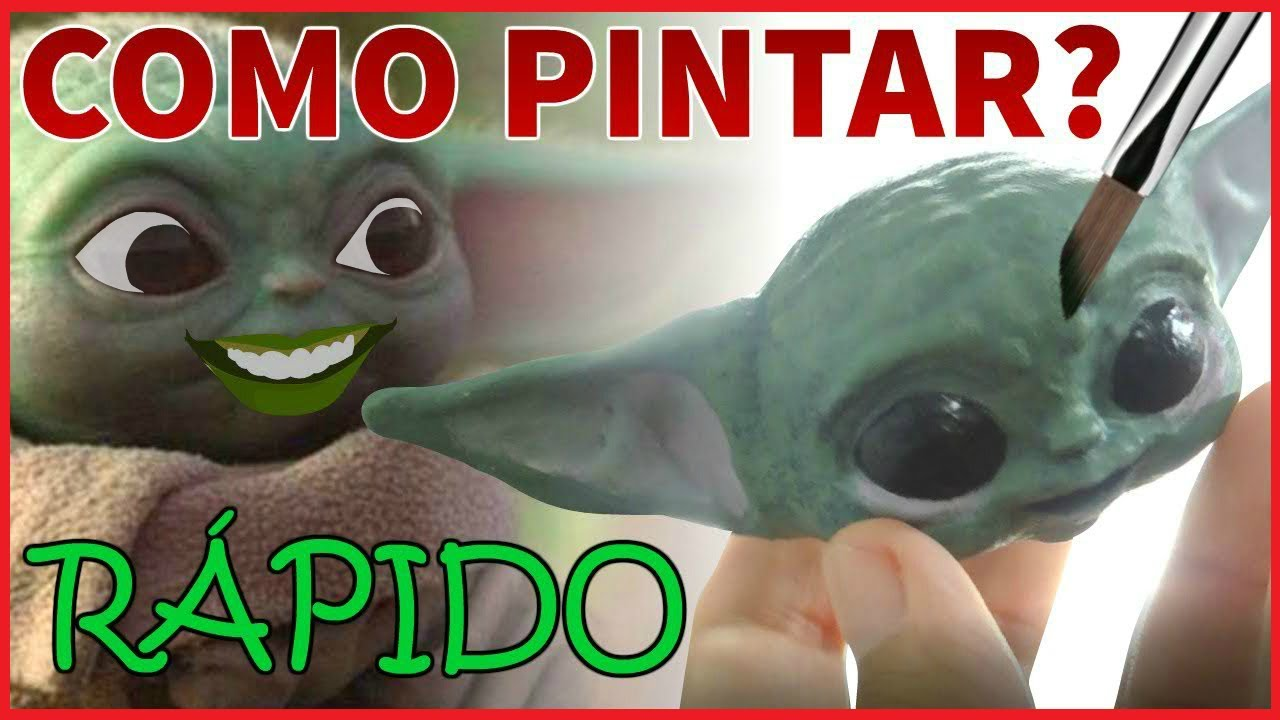Cómo PINTAR una IMPRESIÓN 3D 🎨 POSTPROCESADO FÁCIL Y RÁPIDO (Baby Yoda)