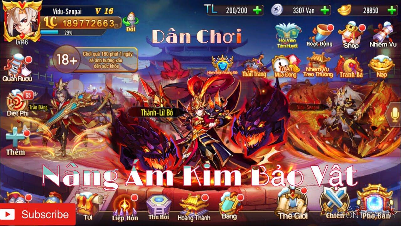 OMG 3Q   Nâng Ám Kim Bảo Vật Tầng 2 Tại Việt Nam - TOP 1 S220 Quá Bá Vs Kim Lữ Bố Dame Chính