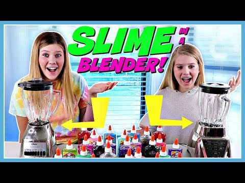 Making Slime in a BLENDER || Taylor and Vanessa