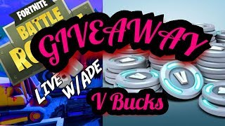V BUCKS! #1000# GIVEAWAY **NEW** SOLO - BLITZ! MODE - Fortnite Live Play !
