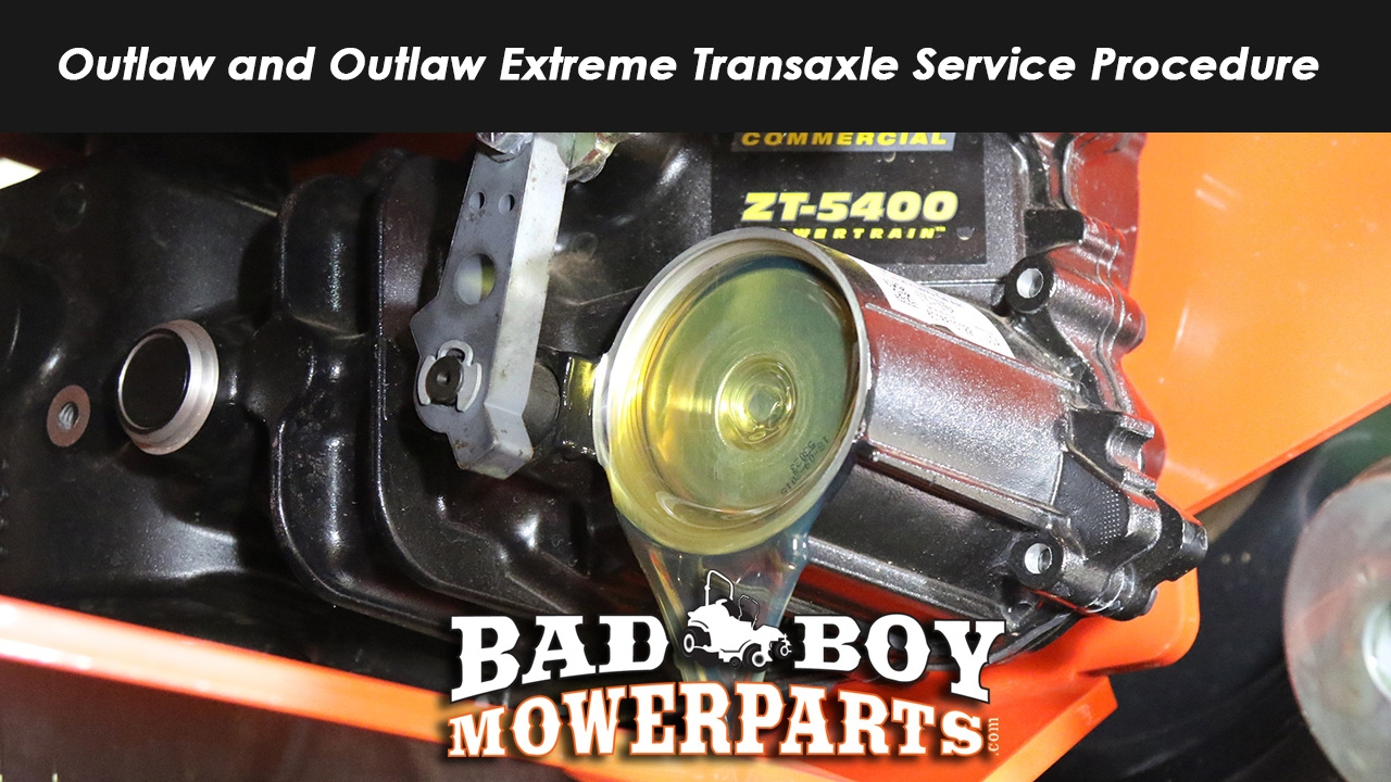 Outlaw and Outlaw Extreme Transaxle Service Procedure