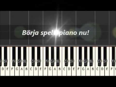 Mobilapp spela piano
