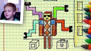 Как рисовать Доктора Осьминога, Урок рисования Никиты,  РыбаКит
