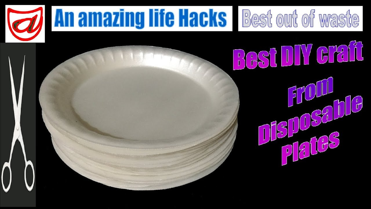 #decoration #Quelling  sc 1 st  YouTube & A beautiful DIY decor craft from disposable plates | Best out of ...