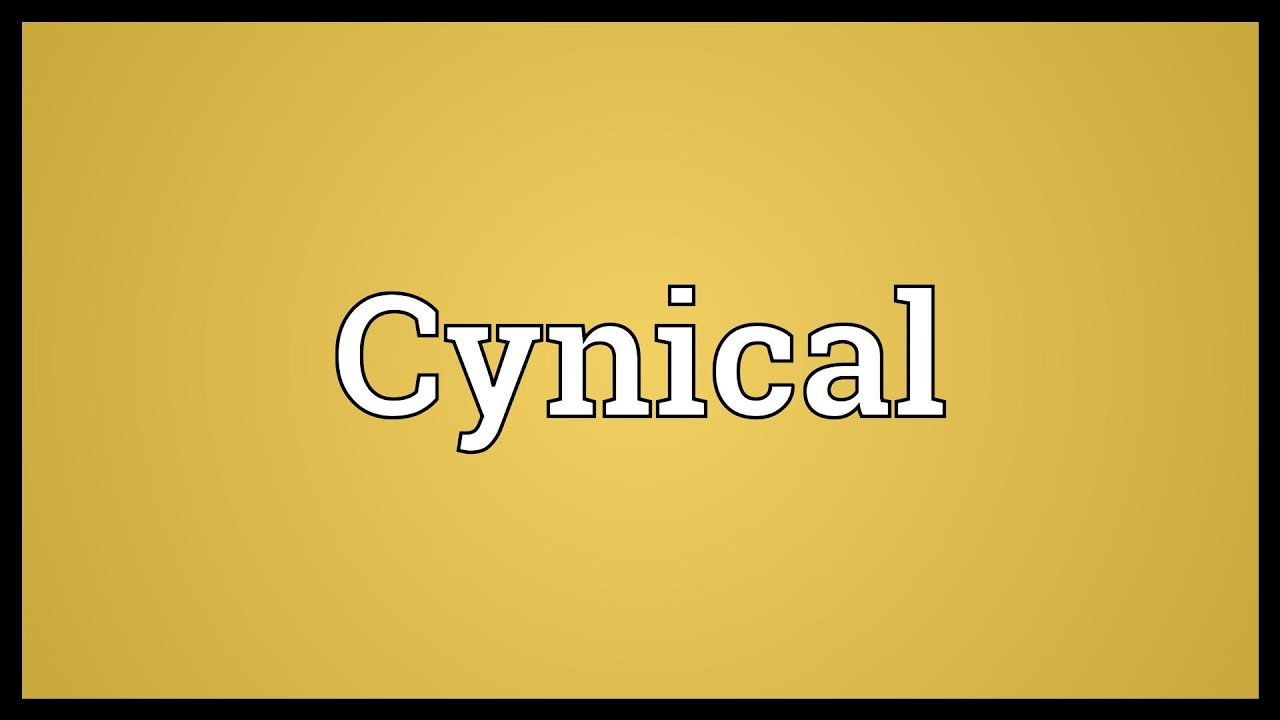 Image Result For Cynical Definition