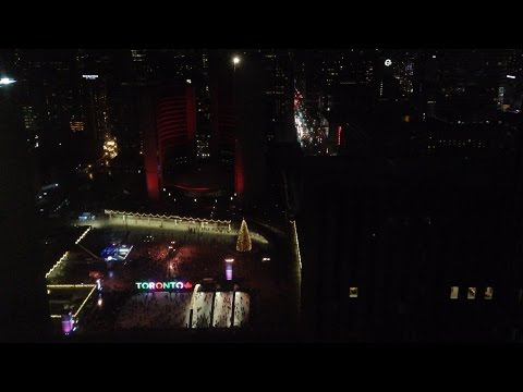 Toronto NYE celebrations live from Nathan Phillips Square