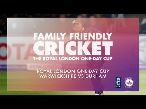 Royal London One-Day Cup: Warwickshire vs Durham