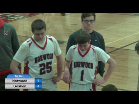 NHS Norwood Indians JV Boys vs Goshen - February 10, 2017