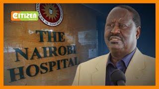 Kinara wa ODM angali amelazwa katika Nairobi Hospital