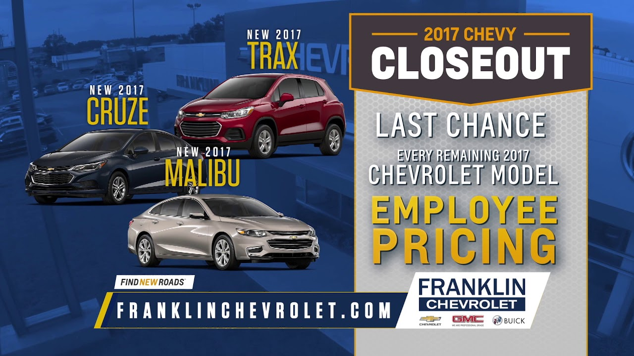 Franklin Chevrolet   50th Anniversary / 2017 Chevy Closeout