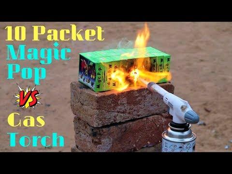 10 Packets Magic Pop (Chit-Put) VS Gas Torch | दिवाली धमाका Blade XYZ |
