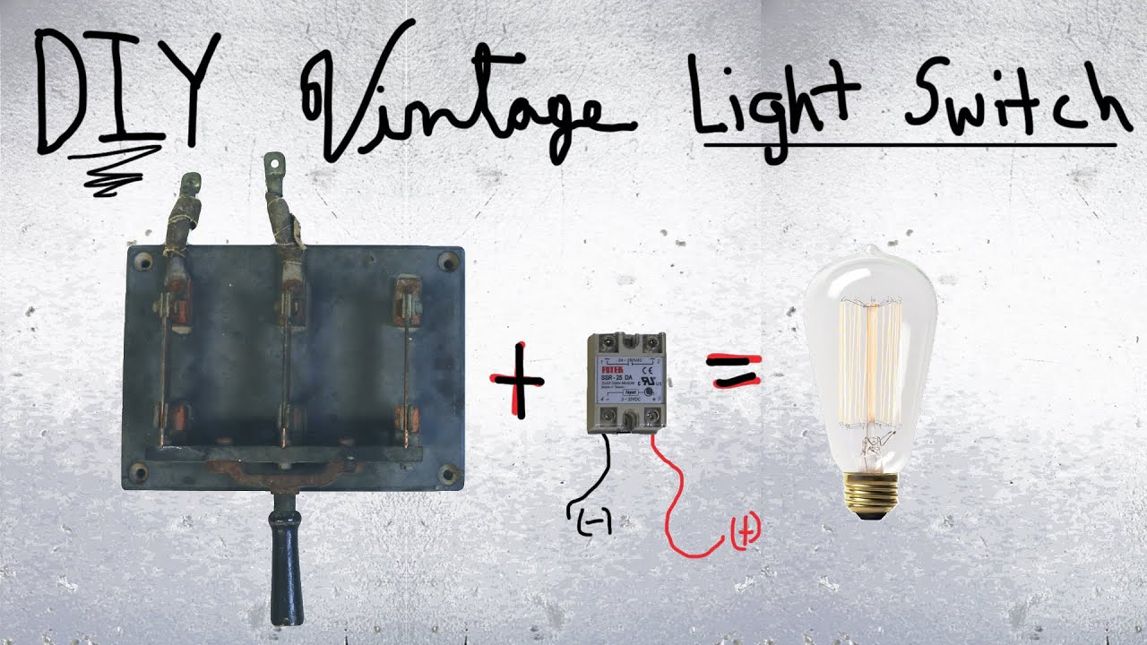 diy frankenstein light switch knife switch and relay youtube rh youtube com