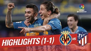 Resumen de Villarreal CF vs Atlético de Madrid (1-1)