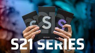 Mở hộp bộ 3 máy Galaxy S21, S21  +, S21 Ultra