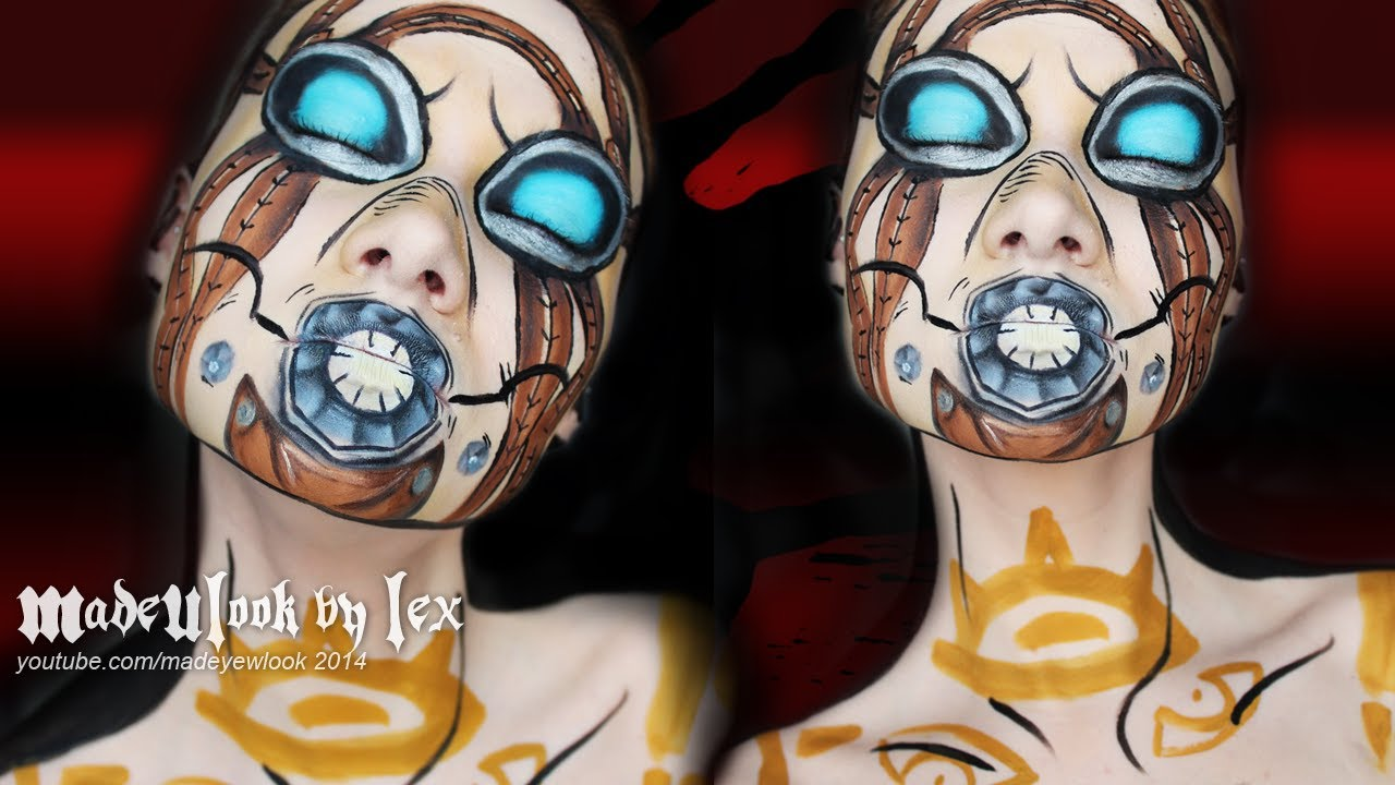 Borderlands 2 lilith cel shading and makeup seraph cosplay.