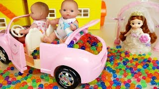 Baby doll car princess toys and swing tree toys play