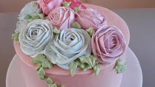 Aprenda Fazer Bolo Floral – Flores Em Chantininho
