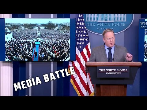 Trump White House Press Secretary Sean Spicer blasts the media at first press conference