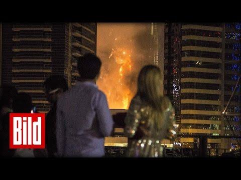 """Deutscher entkommt Dubai Feuer-Hölle: """"Da brennt gerade das Hotel ab!"""""""