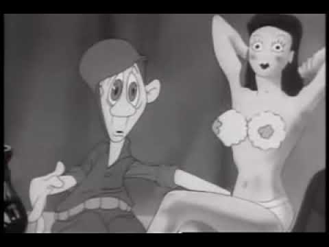 RARE WARTIME ADULT CARTOON 💋   Private SNAFU 'Booby Traps' play  Classic Cartoons