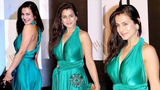 Amisha Patel in Beautiful Green Gown at Amitabh Bachchan's Birthday Party