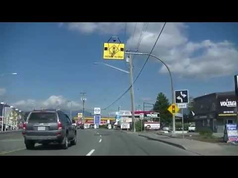CHILLIWACK British Columbia Canada - Driving In The City - Sightseeing Drive - Free Blues