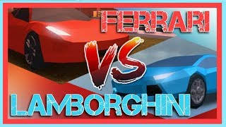 FERRARI VS. LAMBORGHINI! WHICH IS FASTER? | Roblox Jailbreak