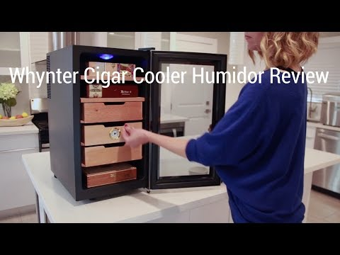 whynter cigar cooler humidor review youtube. Black Bedroom Furniture Sets. Home Design Ideas