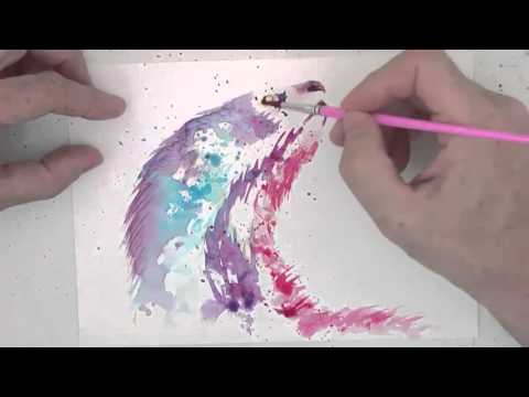 How to paint otter in watercolour