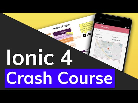 Ionic 4 & Angular Tutorial For Beginners - Crash Course