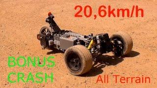 [BONUS FAILS] - [MOC] Lego Technic RC Fast Car - 20,6kmh - With 2 SBrick