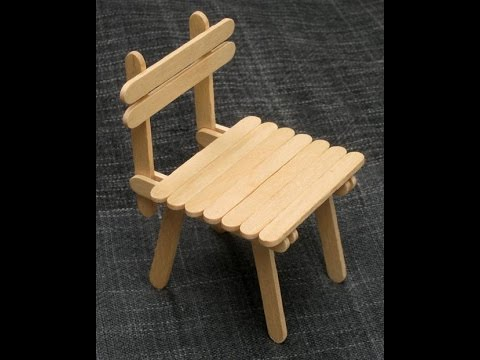 DIY  Popsicle Stick Chair  Craft For Kid  YouTube