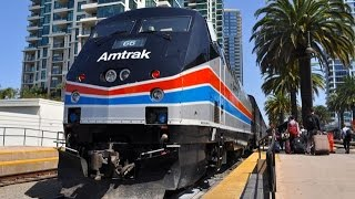 Amtrak Heritage Units on the Pacific Surfliner