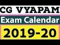 CG VYAPAM Exam Calendar 2019-20 Chhattisgarh Pre-B.Ed 2019 DelEd PAT PET PPHT Pre MCA Nursing