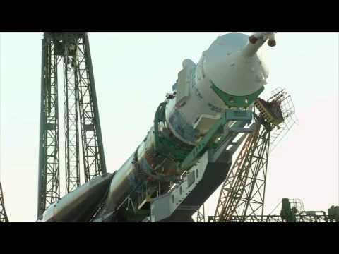 Soyuz and rocket rolled