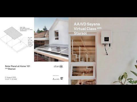 Aaksen Talks #virtualclass Solar Panel at Home 101 with Starsol